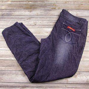 Sasson Skinny Leg Shuffle Purple Corduroy 18 Ooh L